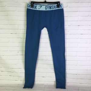 Gymshark Fitted Seamless Blue Gym Leggings Size M